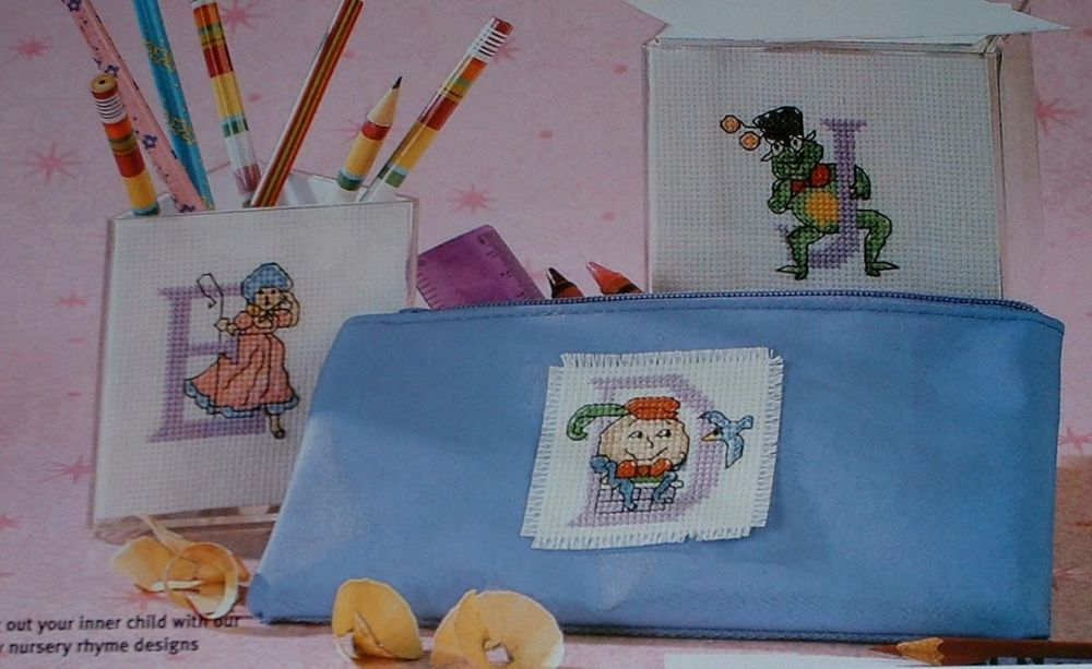 Nursery Rhyme ABC Alphabet ~ 26 Cross Stitch Charts
