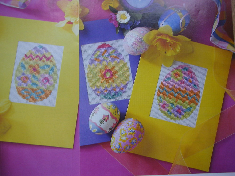 Colourful Easter Egg Cards ~ Four Cross Stitch Charts