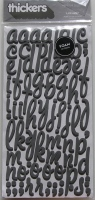 American Crafts : Lullaby Foam Letter & Number Stickers ~ Charcoal Grey