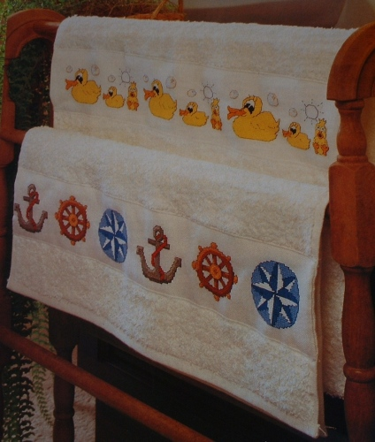 Nautical/Whimsical Bathroom Borders ~ Three Cross Stitch Charts