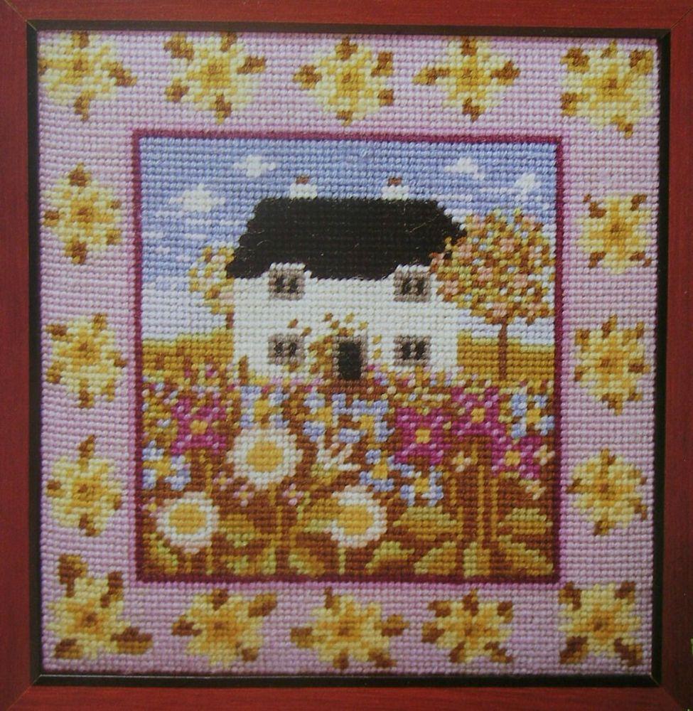 Primrose Cottage ~ Needlepoint Pattern