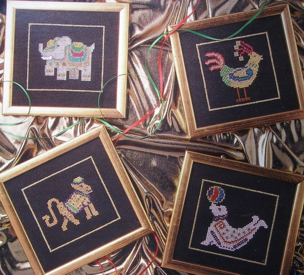 Exotic Animals in Metallic Threads ~ Cross Stitch Charts