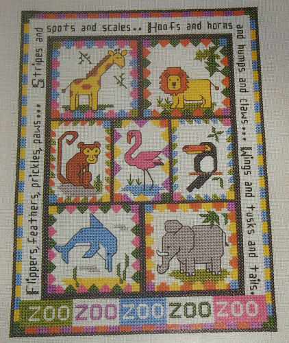 Zoo Animal Sampler ~ Cross Stitch Chart