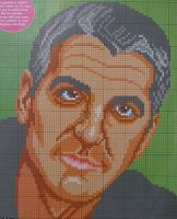 George Clooney ~ Hollywood Actor ~ Cross Stitch Chart
