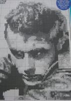 James Dean: Hollywood Actor ~ Black & White Cross Stitch Chart