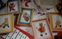 Big Band Animals ~ Five Cross Stitch Charts