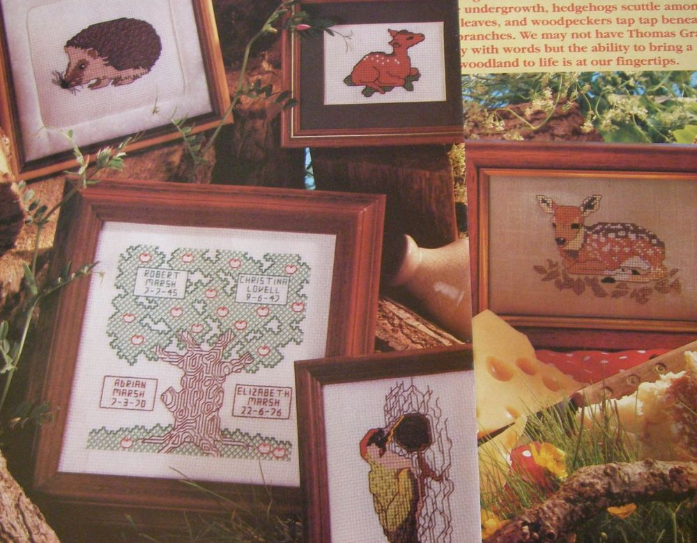 Woodland Animals & Family Tree ~ Five Cross Stitch Charts