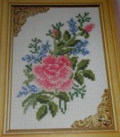 Pink Rose ~ Cross Stitch Chart
