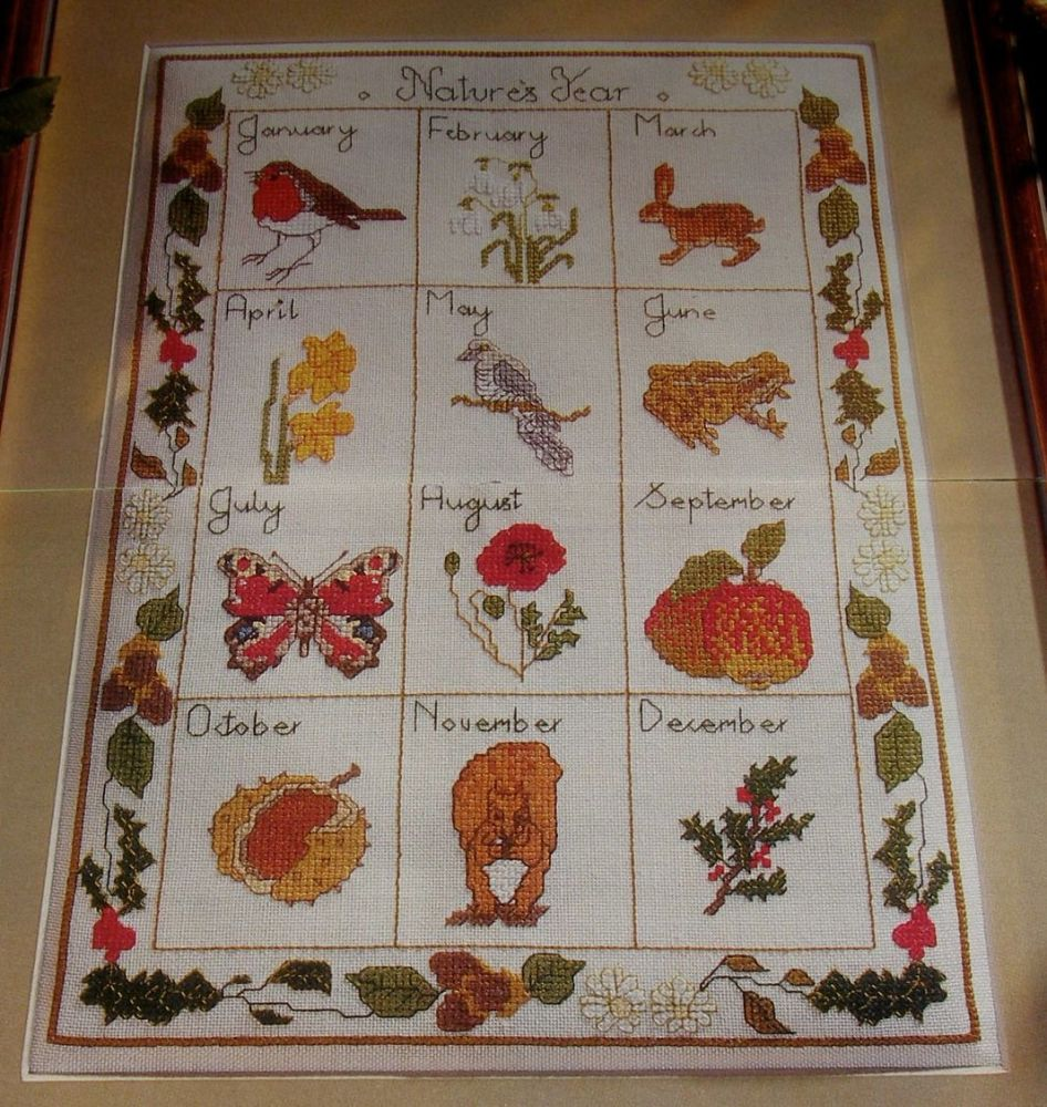 A Year in Nature ~ Cross Stitch Chart