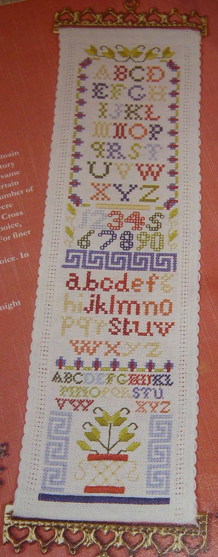 Alphabet Sampler Bellpull ~ Cross Stitch Chart