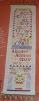 Alphabet Sampler Bellpull ~ Cross Stitch Chart