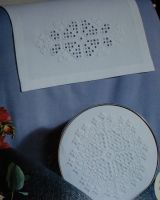 Hardanger Tray/Cushion & Antimacassar ~ Hardanger Patterns