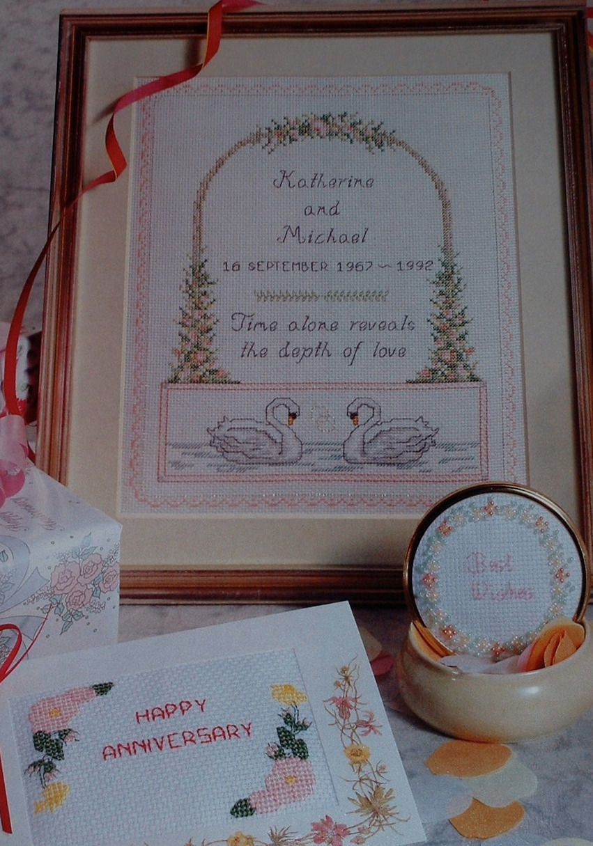 Wedding Anniversary Sampler & Cards ~ Cross Stitch Charts