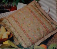 Traditional Sampler Border Motif Cushion ~ Cross Stitch Chart