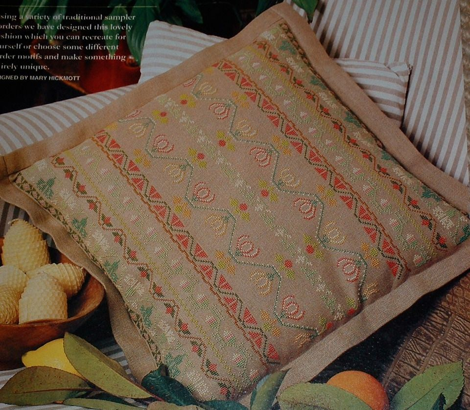 Traditional Sampler Border Motif Cushion ~ Cross Stitch Chart
