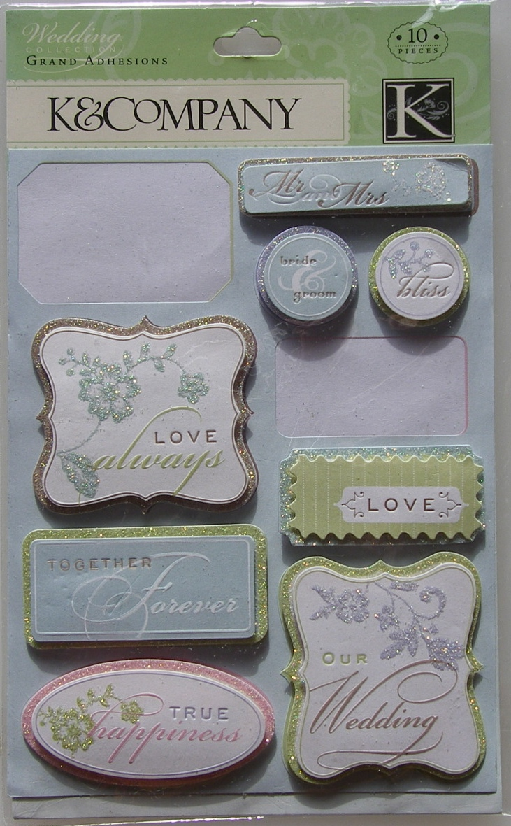 K&Company: Wedding Tags ~ Grand Adhesions Stickers