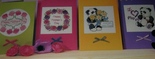Four Mother's Day/ Birthday Cards ~ Cross Stitch Chart
