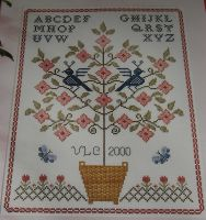 Flowering Tree Sampler ~ Cross Stitch Chart