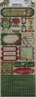 Bo Bunny: Father Christmas - Comfort & Joy ~ Cardstock Stickers