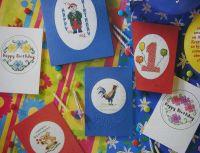 Seven Birthday Cards ~ Cross Stitch Charts