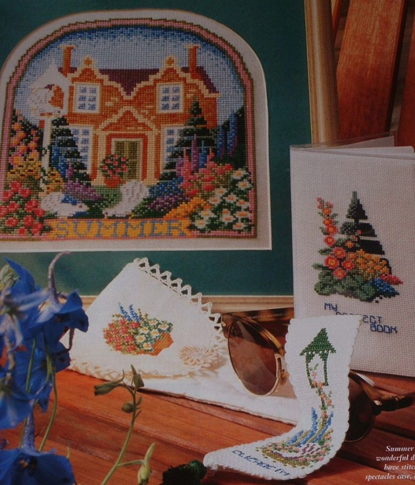 Summer House & Gardens ~ Four Cross Stitch charts
