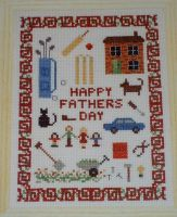 Father's Day Sampler ~ Cross Stitch Chart