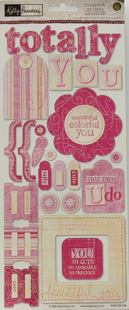Kelly Panacci: Totally You ~ Cardstock Stickers