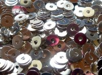 Spangles - silver plated, 4mm. Qty 10