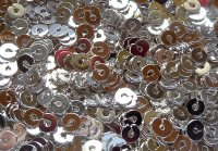 Spangles - silver plated, 2mm. Qty 10