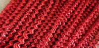 Large bright check purl, red - 35cm