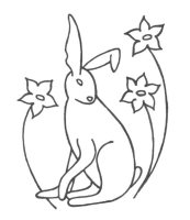 lsm hare only outline design