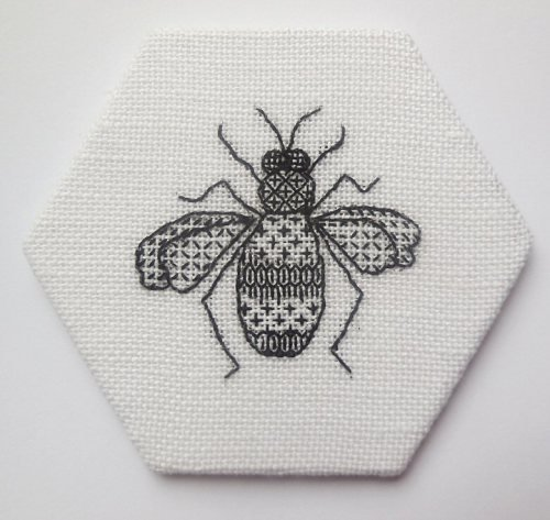 Swarm of bees - Blackwork Bee embroidery kit