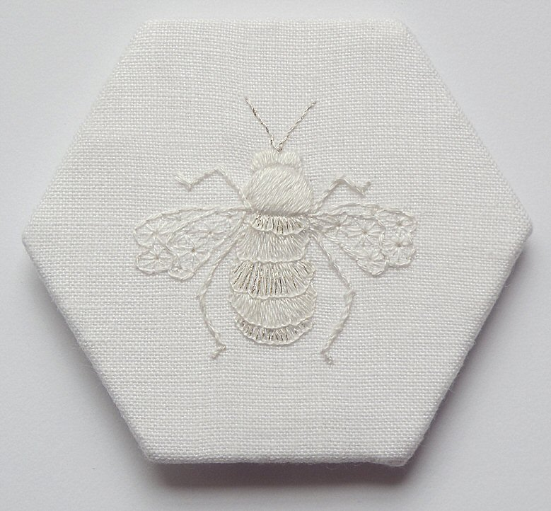 Swarm of bees - Whitework Bee embroidery kit