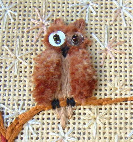 Stumpwork Owl