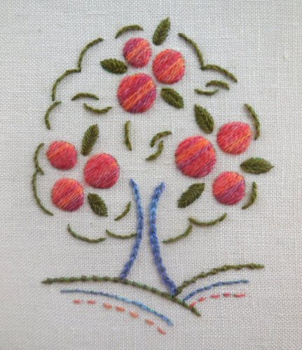 orange tree on linen