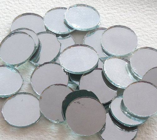 Round Shisha Mirrors (Qty 5, diameter 18mm)