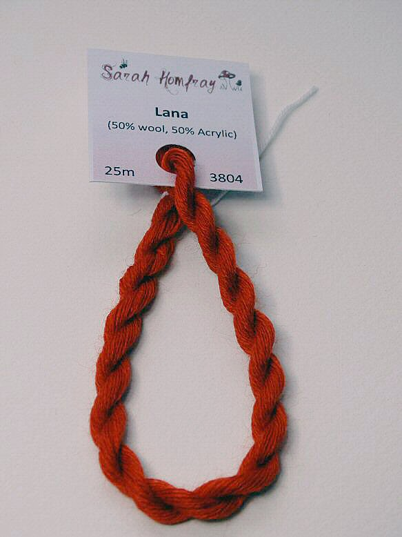 3804 Dark orange Lana thread (red)