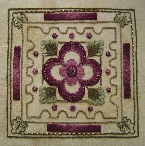 Ceiling Coffer - Crewelwork