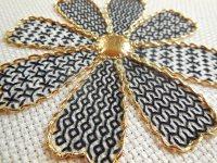 black and gold petals 1