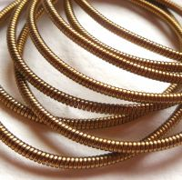 Large metal purl wire 1.9mm, brass colour - 50cm