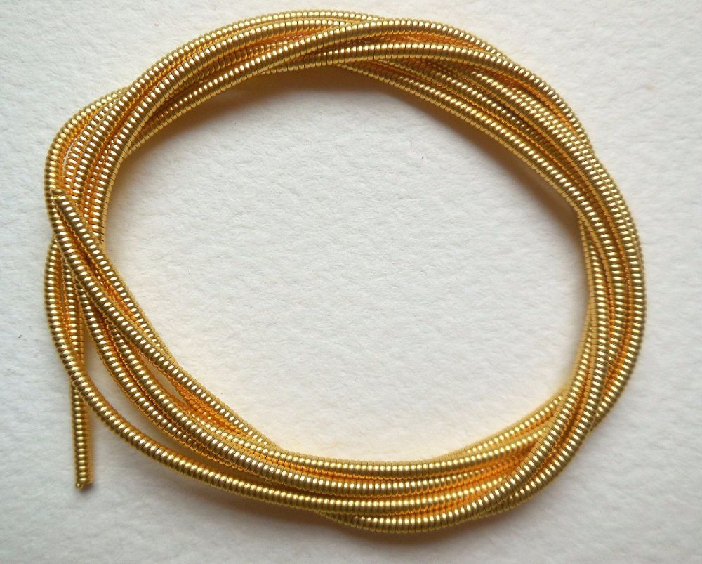 Pearl Purl (large) embroidery metal, gold colour - 50cm