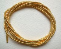 Large metal purl wire 1.9mm, gold plated - 50cm