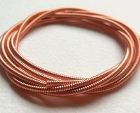 Large metal purl wire 1.9mm, Copper colour - 50cm