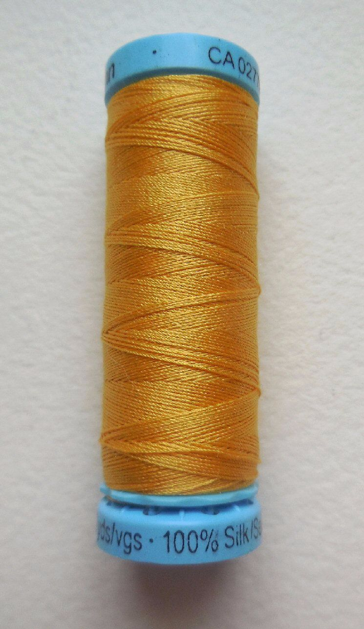 Silk sewing thread, gold colour