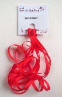 4mm Red 225 silk ribbon