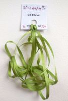 4mm Moss green 256 silk ribbon