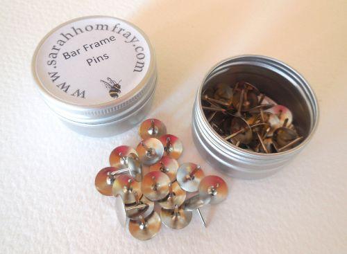 Stretcher bar frame pins