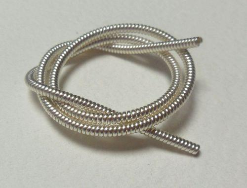 Pearl Purl wire, silver colour large - 50cm