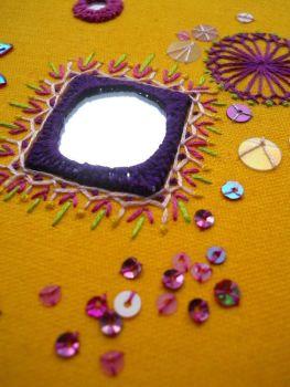 Square shisha mirror sampler