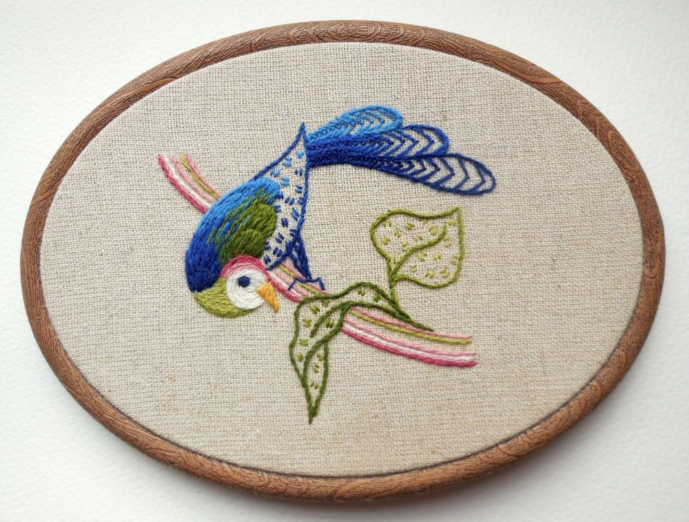 'Turaco' crewelwork embroidery kit